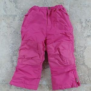 Lands' End snowpants size 3T pink